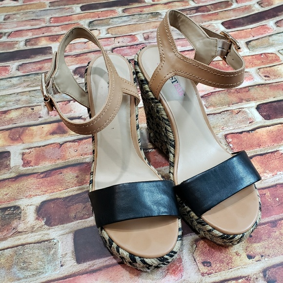 36a65f66ae Shoes   Just Fab Ankle Strap Wedge   Poshmark
